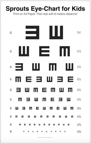 Download Sprouts Eye Chart For Kids